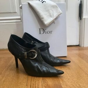 Dior Black Leather Booties
